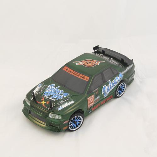 Радиоуправляемый автомобиль для дрифта HSP Flying Fish 2 - 1:16 4WD - 94163T3-16331G - 2.4G  (Nissan Skyline) зеленый, 27 см